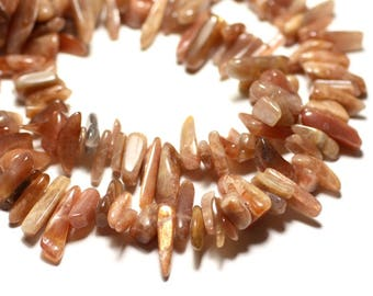 20pc - beads - sand stone Chips sticks 8-20mm beads - 8741140014725