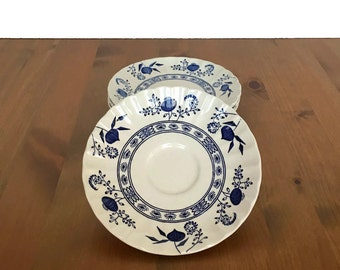 Meakin Blue Nordic saucer vintage blue and white ironstone plates