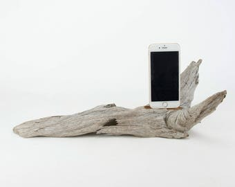 Docking Station for iPhone, iPhone dock, iPhone Charger, iPhone Charging Station, iPhone driftwood dock, wood iPhone dock/ Driftwood-No.1013