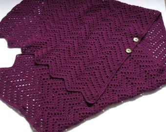 Shawl crochet cape, handmade gift, oversized shawl