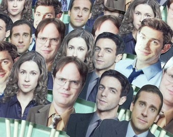 THE OFFICE Cupcake toppers | The office TV show | Co workers | Pam Beesley | Dwight Schrute | Michael Scott