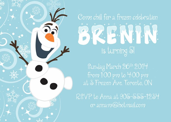 Olaf birthday invitation frozen party invitation olaf party zoom stopboris Images