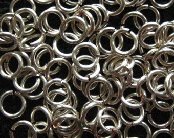 Jump Rings 200 -- 18 ga 3.5mm Handmade Non Tarnish Silver Chainmaille chain mail