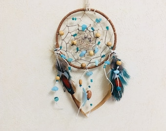 Car dreamcatcher dream catcher  Feather decor  Indian Style talisman gift Wall hanging boho Little dreamcatcher Native American dreamcatcher