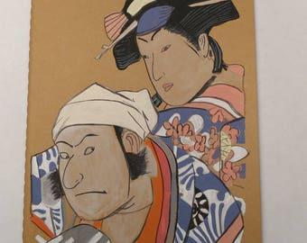 Hand Painted Japanese Theater Scene on a Moleskine Journal