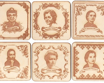 Women Of Science Coasters (Set of 6)