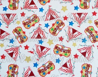 Circus Tents Glitter Canvas, Faux Leather, Faux Leather Sheets