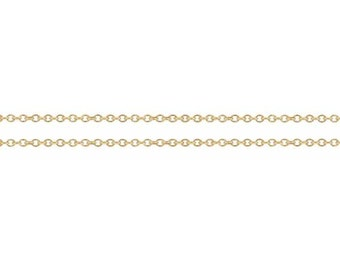 Cable Chain 14kt Gold Filled 1.4x1.2mm Premium Quality Chain - 5ft Bulk quantity Wholesale price (8067-5)/1