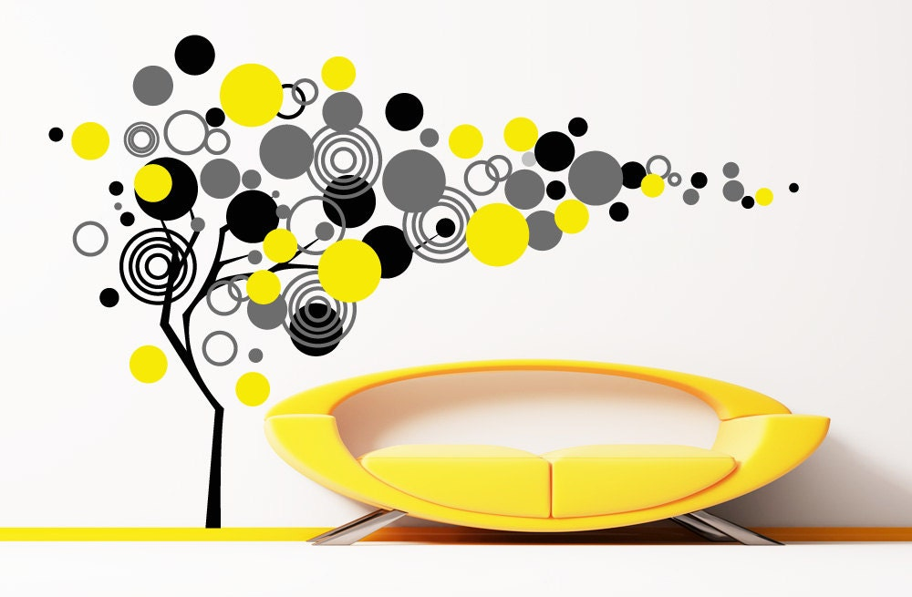 Large Decal Circle Tree Wall Decals for Kids Rooms Wall