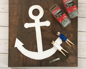 Anchor String Art Kit, String Art Kit, Custom String Art, String Art DIY