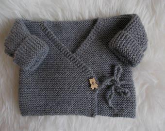 life jacket baby baby wrap Cardigan wool jacket