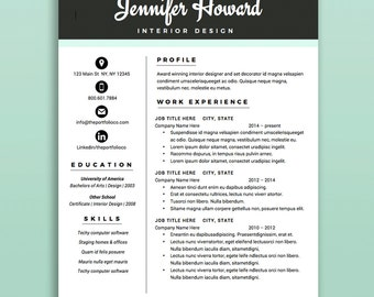 "Creative Resume Template | CV + Cover Letter | Modern Resume Designs | Mac or PC | Fully Customizable (""Broadway"")"
