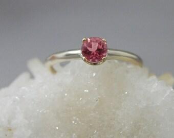 Katara- Pink Tourmaline Ring, pink tourmaline engagement ring, pink gemstone promise ring, October birthstone ring, tourmaline stacking ring
