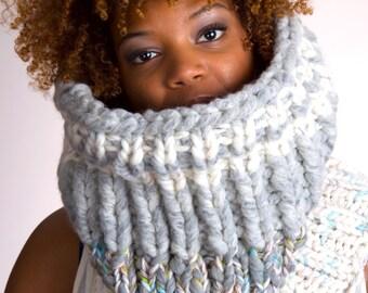Knit Cowl, Knit Scarf, Chunky Knit Scarf, Knit Infinity Scarf, Knit Chunky Scarf, Knit Cowl Chunky, Knit Chunky Cowl - Winter Days #1