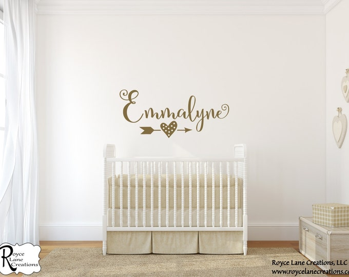 Baby Arrow Art-Nursery Gold Arrow-Personalized Nursery Arrow Name-Arrow Art Babies-Gold Nursery Name-Arrow Nursery Name-Arrow Name Art