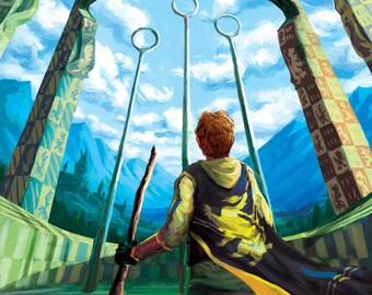 Harry Potter Quidditch Print - Hufflepuff