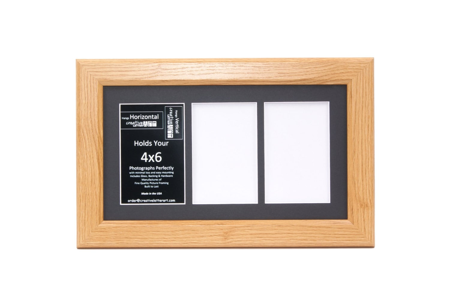 4x6 Multiple 3 4 5 6 7 8 9 10 Opening Oak Picture Frame with Mat ...