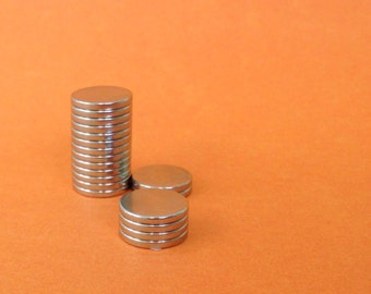 Quantity 50 - 1/2 inch - 13mm -Rare Earth Neodymium Magnet - 1/16 inch thick- extremely strong powerful disc magnet - magnet supply