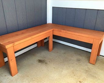 High Quality Custom Made Wooden L Shaped Bench: OAHU, HAWAII Sales Only