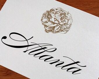 Angela Menu, Table Marker & Place Card Set