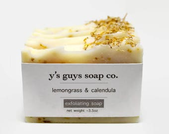 Lemongrass & Calendula Handmade Soap - All Natural Soap - Homemade Soap - Valentine's Day - Mother's Day - Gift for Him - Bridesmaid Gift