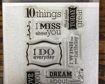 C1474 10 Things - CTMH My Acrylix Stamp Sets