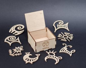 "Plywood decoration set ""Animals""/8 plywood toys/Eco-friendly decor set/Wooden ornaments/Birch/Plywood toys/Laser cut decor/Holiday decor"