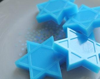4 Star of David Soaps - Hanukkah, Rosh Hashana Gift