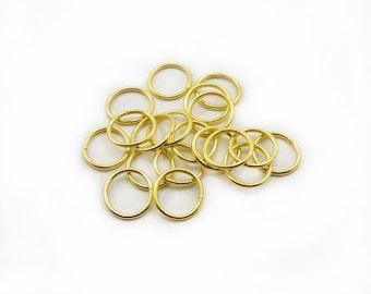 14mm Jump Rings , Jump Rings, Split Rings, Steel Jump Rings, 20 pcs Jump Rings, Gold Color Jump Rings, Jewelry Making, DIY Jump Rigs