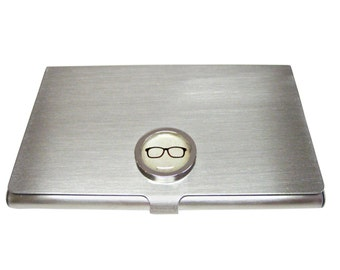 Bordered Glasses Pendant Business Card Holder