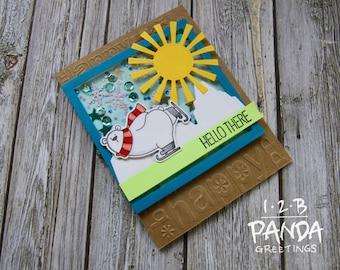 Polar Bear Birthday Shaker Card