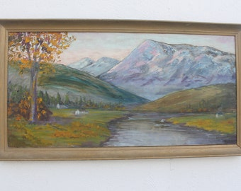 Vintage landscape Acrylic Painting By  Binson.