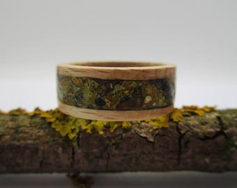 WOOD RING & LICHEN, Wooden ring