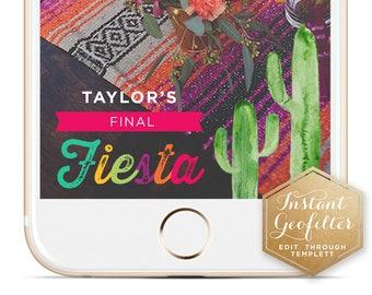 Cactus Final Fiesta Bachelorette Snapchat Geofilter | Custom Geofilter | Birthday Geofilter | Bridal Shower Geofilter | Instant Geofilter