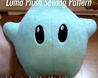 DIY Super Mario Galaxy Luma Star Plush Sewing Pattern - EASY to make!