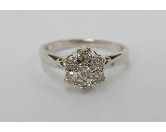 18 ct white gold diamond ring