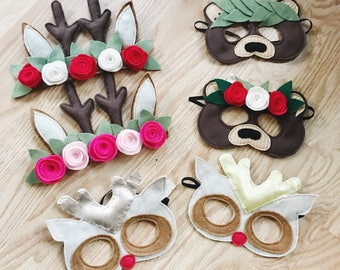 Holiday felt mask or headband