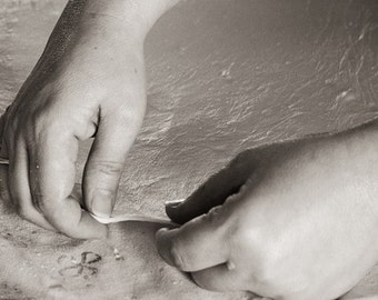 Magic of creation - pastry maker, Fine art photograph, print 8x8