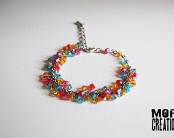 Swarovski Crystals grape bracelet
