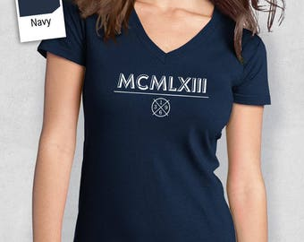 55th Birthday, 1963 Roman Numerals, Shirt, T Shirt, For Her, 55th Birthday Idea, 55th Birthday Present, Birthday Gift. 1963 Birthday, Shirt