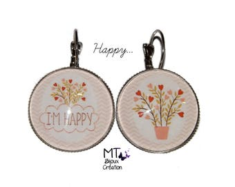 """Mismatched earrings theme """"Happy"""""""
