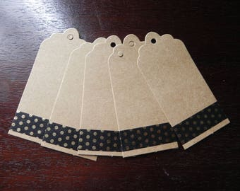 SMALL price * 5 labels/tag made of cardboard that measure 9 X 4 cm