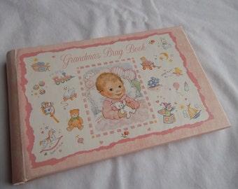 Vintage, C.R. Gibson, Grandma's Brag Book, Pink, 1977