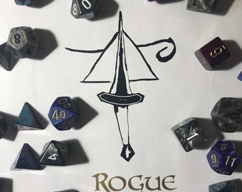 Black and Gold Rogue Decal