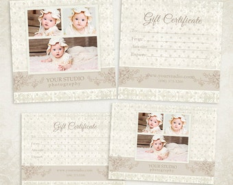 Photography Gift Certificate photoshop template 006 - ID0104, Instant Download