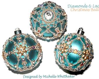 Diamonds & Lace Christmas Oranment Needlework Tutorial PDF