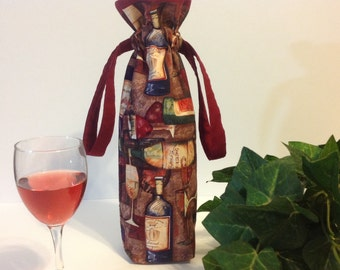 Wine tote, Wine Bag, Wine Gift Bag, Wine Bottle Bag