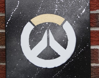 Overwatch Logo Painted Canvas