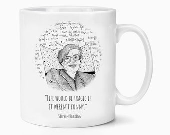 Stephen Hawking Quote RIP Look Up At The Stars Coffee Tea Mug Gift