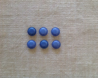 Six round buttons, lavender, set of 6 round buttons